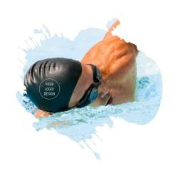 Bedruckte Bademützen mit eigenem Logo Design