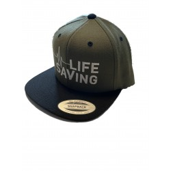 Snapback Cap Lifesaving – Oliv/Black