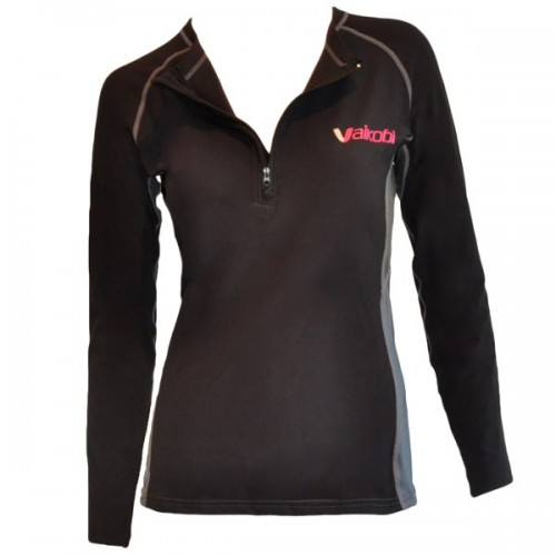 V Cold Long Sleeve 1/2 Zip Top, Woman