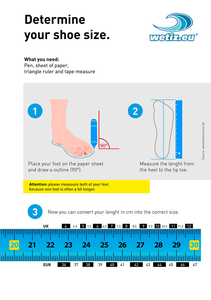 How to determine your foot size!
